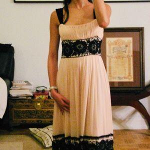 LIKE NEW DVF beaded silk blush pink dress